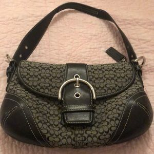Coach bag with signature c